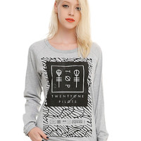 Twenty One Pilots Grey Scale Girls Pullover Top