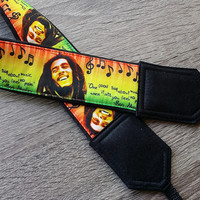 Bob Marley Camera Strap. Music Camera Strap. Notes Camera Strap. Camera Accessories