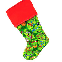 Teenage Mutant Ninja Turtles Christmas Stocking, TMNT, Christmas, TMNT Holiday, Teenage Mutant Ninja Turtles Party, TMNT Holiday Stockings