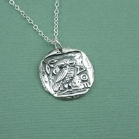 Athena Owl Coin Necklace