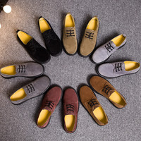 Leather England Style Dr. Martens Shoes [9553596938]
