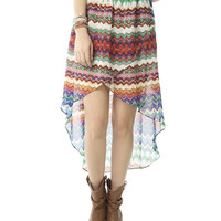 Color Tribal High-Low Skirt   Shop Tribal at Wet Seal