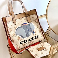 COACH Fashion New Elephant Letter Shoulder Bag Crossbody Bag Two Piece Suit