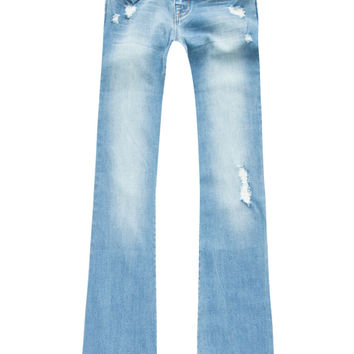 Scissor Girls Flare Jeans Medium Wash  In Sizes