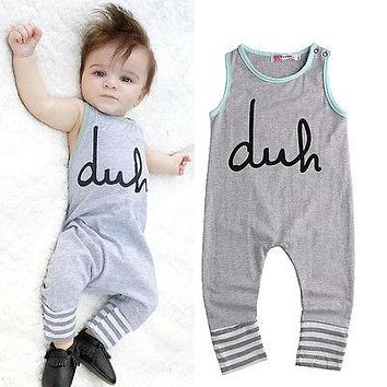 born Summer Rompers Cute Toddler Baby Girl Boy Bear Jumpers Rompers Outfits Clothes