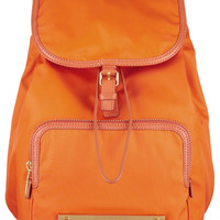 Marc by Marc Jacobs Work It Baby Got Backpack leather-trimmed backpack NET-A-PORTER.COM