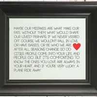 Sex and The City Quote: Art Print // Best Friend Gift // Great Maid of Honor or Bridesmaid Gift