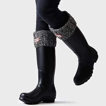 Original 6 Stitch Cable Knitted Cuff Tall Boot Socks by Hunter