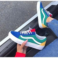 Vans Old Skool couple casual color stitching sneakers