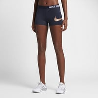 "The Nike Pro Logo Women's 3"" Training Shorts."