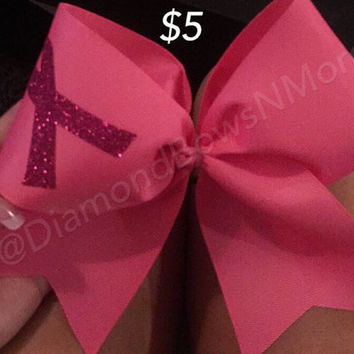 Pink Breast Cancer Bow