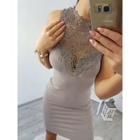 The Newest Fashion Polyester Suit More Occasion Emmababy Women Lace Dress Bridesmaid Wedding Party Sling Dress