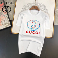 GG printed double G letter round neck short-sleeved T-shirt