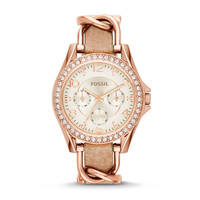 Riley Multifunction Stainless Steel and Leather Watch - Rose and Bone