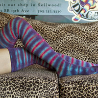 Extraordinary Tie Dyed Thigh Highs - Sock Dreams