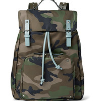 Valentino - Leather-Trimmed Camouflage-Print Canvas Backpack | MR PORTER