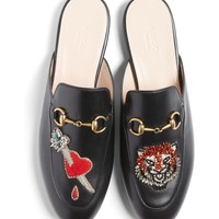 Gucci Princetown Backless Loafer (Women)   Nordstrom