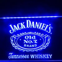 Jack Daniel's Whiskey Old No. 7 Bar Pub Neon Sign
