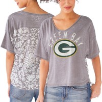 Women's Green Bay Packers Touch by Alyssa Milano Gray Scrimmage T-Shirt