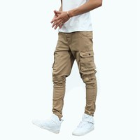 Tactical War Game Cargo Pants Mens Silm Casual Pants Mens Trousers Army Military Active Trouser