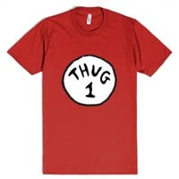 Thug 1 (red)-Unisex Red T-Shirt