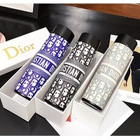 Dior new smart digital display water cup temperature measurement letter all printed food grade 304 stainless steel vacuum flask