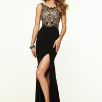 2015 Mori Lee Sexy Side Slit Prom Dress 97091