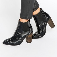 Glamorous Stud Point Heeled Ankle Boots