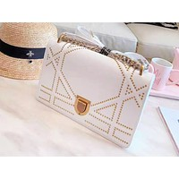DIOR fashion hot seller casual lady rivet shopping bag shoulder bag