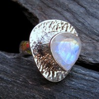 SALE ~ Blue-Fire Faceted Moonbeams | miabellacollection-jewelry - Jewelry on ArtFire