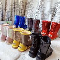 UGG New Fashion Sequin Keep Warm Boost Shoes-5