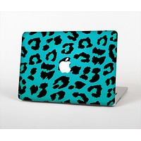 """The Hot Teal Vector Leopard Print Skin Set for the Apple MacBook Air 13"""""""