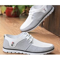 Mens Casual Two Tone Sneakers with Lace