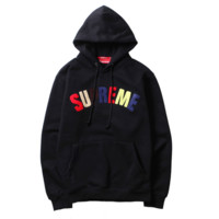 Supreme Men Women Fashion Top Pullover Hooded Sweater Sweatshirt