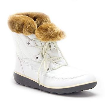 Women's Hike-02 Outdoor Fur Cuff Lace-Up Quilted Winter Snow Boots
