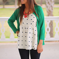 Lots Of Dots Top, Ivory