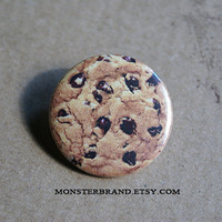 Cookie Cute Food Dessert Lunch - Pinback Button Badge