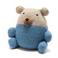 Knit Alpaca Stuffed Bear