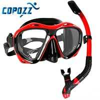 Professional Scuba Diving Mask Snorkels Mask Equipment Goggles Glasses Diving Swimming Easy Breath Tube Set