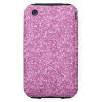 Pink Glitter Tough Iphone 3 Cases