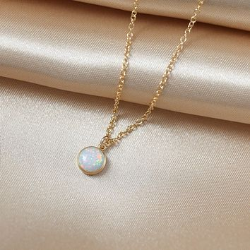 White Opal Necklace
