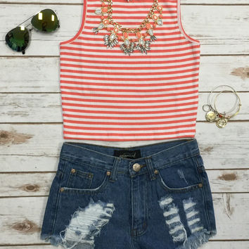 Bayside Top: Coral