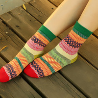 Sweet Tribal Pattern Socks