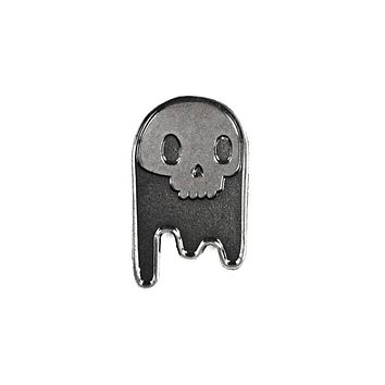 Ghost Skull Pin - Black