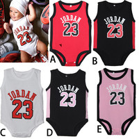 Legend 23 Hot Sale Clothing For Baby Clothing Set Bodysuit For Newborn Clothing Sport Clothing Set Basketball Player Printed