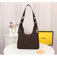 Fendi Women Leather Shoulder Bags Satchel Tote Bag Handbag Shopping Leather Tote Crossbody-21