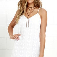 Obey Kellyn Ivory Shift Dress