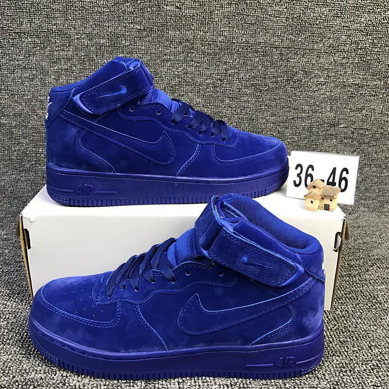 Image of NIKE Air Sapphire Blue High Tops  Trending Fashion Casual Sports Shoes Blue G-CSXY