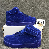 NIKE Air Sapphire Blue High Tops  Trending Fashion Casual Sports Shoes Blue G-CSXY