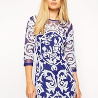 ASOS Baroque Embroidered Shift Dress